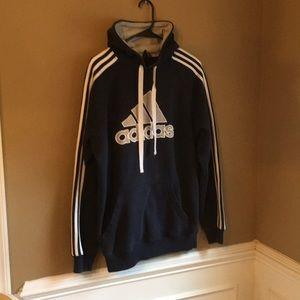 Adidas hoodie men's Med. Navy blue. Lightly worn